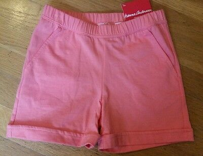 NWT Hanna Andersson FREE TIME Cotton Shorts MELON PINK ORANGE 120 6 7 8