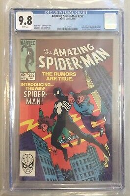 Amazing Spider-Man # 252, 05/1984, CGC 9.8 White pages, 1st Black costume in AMZ