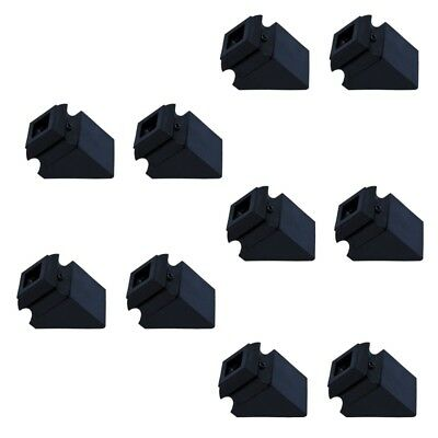 ALEKO  Lot Of 10 Black Metal Shoes 1/2 Inch For Balusters Stair Supply Part