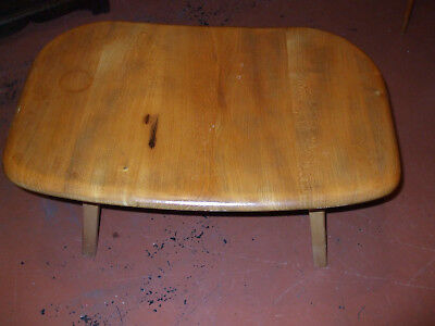 Original vintage Ercol table extension / coffee table conversion, blonde elm