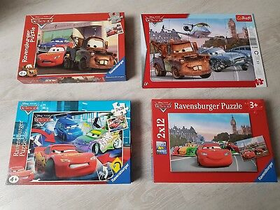 7 Stück - Lightning Mc Queen - Cars Puzzle - TOP - 12/15/20 Teile
