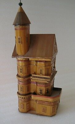 "Miniature House SAN FRANCISCO Victorian Architecture Queen Anne Tower 9¼"" Tall"