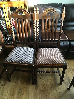 Two Beautiful Edwardian Antique Dining Chairs