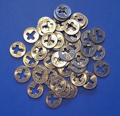 Lot Of 50 Cross Cut Out Lincoln Pennies, Nice Religious Novelty Gifts