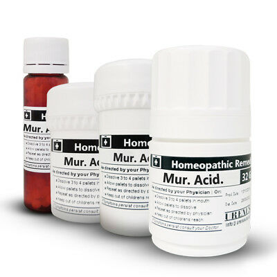 MURIATIC ACID in 6C 30C 200C or 1M Homeopathic Remedies Homeopathy Medicines