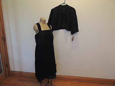 Le Bos size 24 Women navy blue jacket & dress set mother/party New with tags