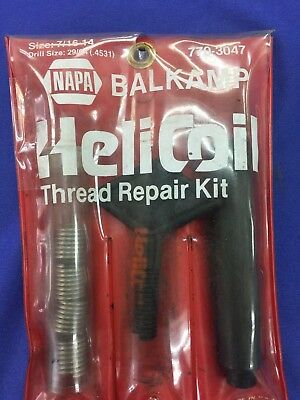 Helicoil, Thread Repair Kit, 770-3047, 7/16-14, Drill Size: 29/64(.4531)