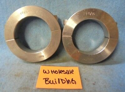 "2-Piece Shaft Collar 1-15/16"" Bore Clamp Style, 3"" Od, Stainless Steel, Lot Of 2"