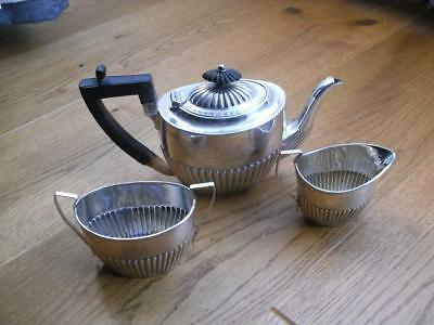 ANTIQUE SOLID SILVER 3 PIECE BREAKFAST TEASET Sheffield 1895