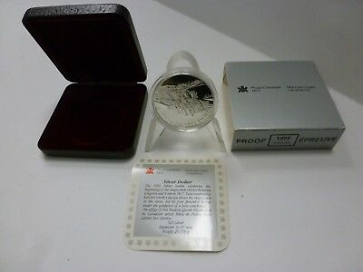 1992 Canada Silver Proof Dollar ~ Stagecoach coin