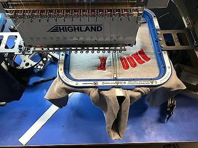 Highland CX1504 4 head embroidery machine sewing. 2015 / slightly used
