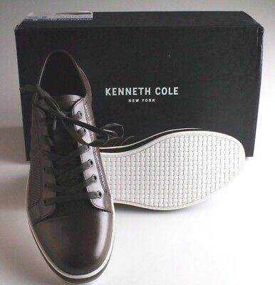 NEW Kenneth Cole Brown Leather Men's Brand-Age Fashion Sneaker Casual Shoes NIB