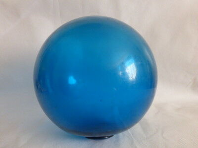 "Vintage Japanese Fishing Float Blue Glass Ball 8""D"