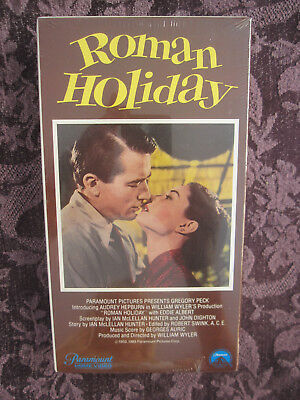 Roman Holiday VHS New Sealed Movie Gregory Peck, Audrey Hepburn