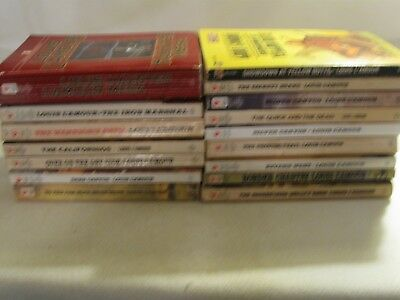 15 LOUIS L'AMOUR WESTERN BOOKS - Soft Covers