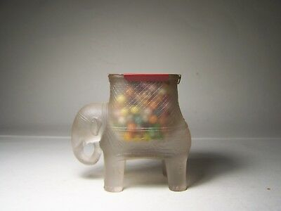 Elephant With Howdah Glass Candy Container ( Frosted )