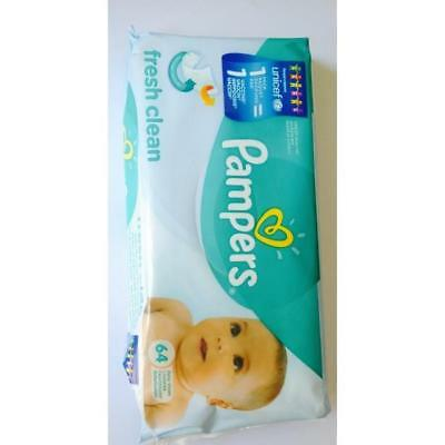PAMPERS Natural Clean Lingettes 64 lingettes