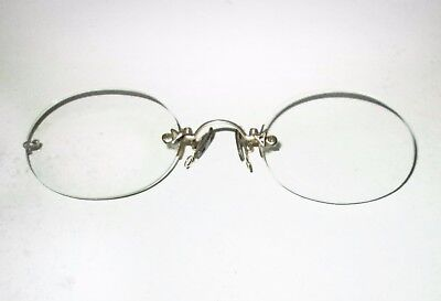 Antique American Optical PINCE NEZ Eyeglasses Spectacles Vtg Santa Christmas