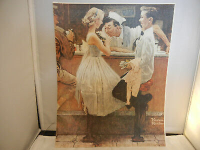 Norman Rockwell, AFTER THE PROM Print on canvas, May 25, 1957