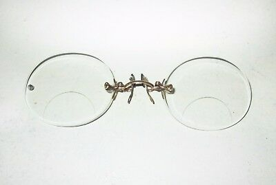 Antique American Optical Fits U PINCE NEZ Bifocal Eyeglasses AO Spectacles Vtg