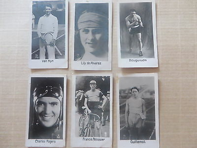 1930' carte LA PIE QUI CHANTE sports boxing racing tennis cycling cyclisme vac15