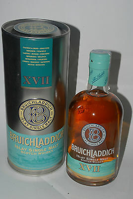 WHISKY BRUICHLADDICH 17 YEARS OLD SECOND SERIE SINGLE HIGHLAND MALT 70cl. IN BOX