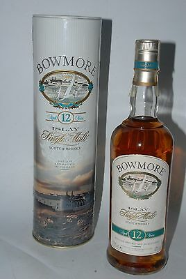 WHISKY BOWMORE 12 YEARS OLD OAK CASKS MALT SCOTCH WHISKY 70cl. METAL BOX