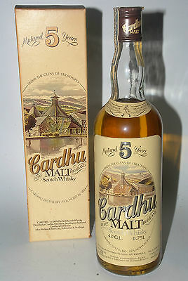 WHISKY CARDHU 5 YEARS OLD HIGHLAND PURE MALT SCOTCH WHISKY YEARS 70 75cl.