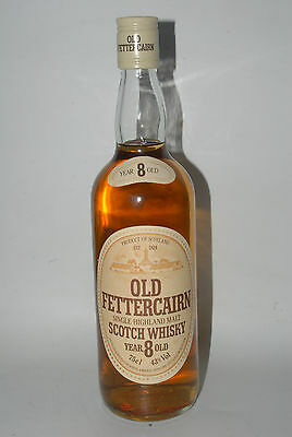 WHISKY OLD FETTERCAIRN 8 YEARS OLD SINGLE HIGHLAND MALT WHISKY AÑOS 70 75cl.