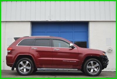 2014 Jeep Grand Cherokee Overland Repairable Rebuildable Salvage Lot Drives Great Project Builder Fixer Easy Fix