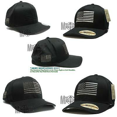 Flexfit Brushed American Flag Tactical Operator Cap Hat Military Army  Marines 62ec525d0c69
