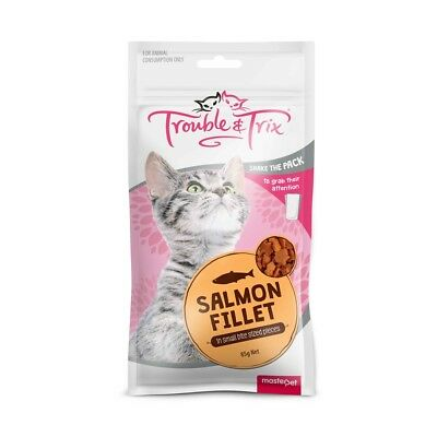 New Trouble & Trix Cat Treat Salmon Fillet 85g