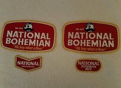 4 Mint / Never used National Bohemian Beer jacket patches