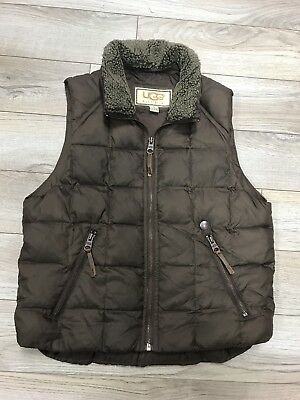 Ugg Brown Boys Girls Unisex Vest Sz.12 Preowned Excellent Condition