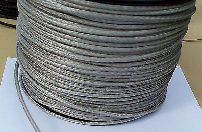 3MM X 10M Silver Dyneema® Fiber Synthetic Winch/ yacht rope tensile:900 kg --NEW