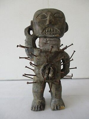 ANTIQUE VOODOO DOLL with NAILS