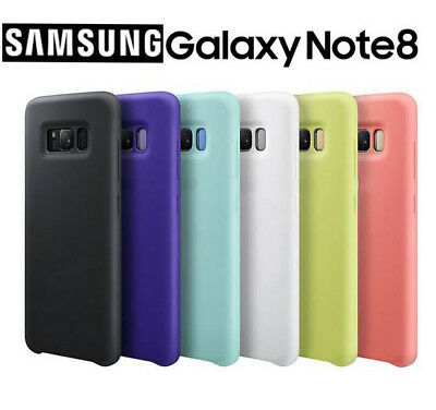 SAMSUNG GALAXY NOTE 8 Silky & Soft-Touch Finish Silicone Hard Cover Case Boxed