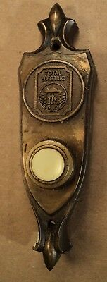 Vintage Pushbutton Total Electric Home Door Bell