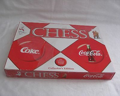 Coke Coca Cola Collector's Edition Ultimate Strategy Classic Chess Game Santa