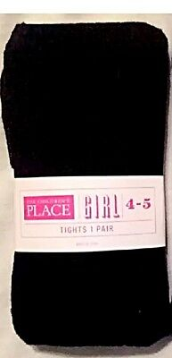 Children's Place Girls Cable Knit Tights -Size 4-5 -Navy Blue -NWT