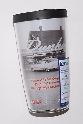 Dunkin' Donuts Original Quincy Store 16 Oz Travel Mug cup DD Tumbler BRAND NEW