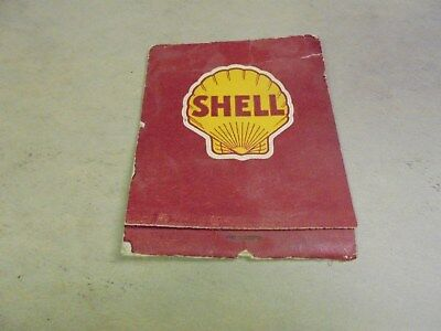 Vintage Extra Large Book of Matches Shell Gas Oil McKune & DuVall Davenport Iowa