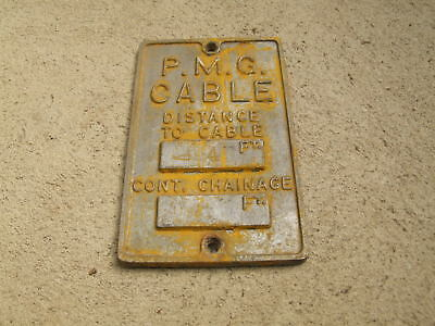 Pmg Alloy Cable Sign  16 X 11Cm