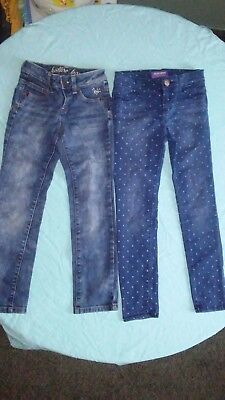 Girls Justice and Old Navy jeans size 7 (lot of 2) *EUC*