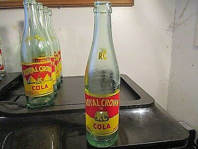 ROYAL CROWN BOTTLING CO RC COLA  KNOXVILLE TENN 12ozs BOTTLE VERY NICE
