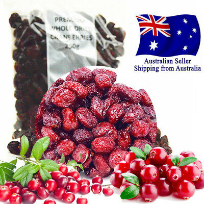 Cranberry Dried Cranberries Whole 250g Market Grocer Dried Cranberry Whole snack
