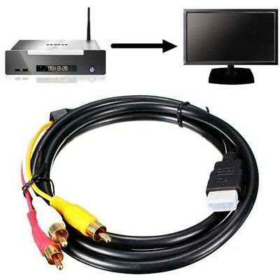 5Ft HDMI Male to 3 RCA Video Audio Cord Component AV Adapter Cable HDTV 1080P GW