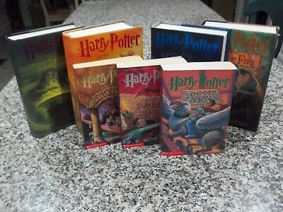HARRY POTTER Complete  Book Mixed Set 1-7   J.K. Rowling 1st Editions -GREAT