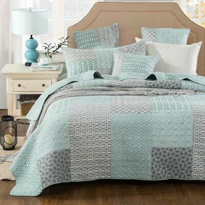 Quilts Coverlet Super King Size 265cm x 285cm  Mountain Includes 2 pillowcases