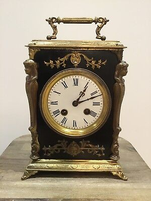 Neoclassical Japy Freres Mantel Carriage Clock